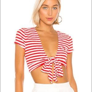 Revolve Lovers + Friends Red and White Top